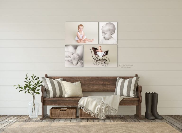 Inspiration for your 6 month baby pictures, created by Ellen Adams Photography in Huntsville, AL.