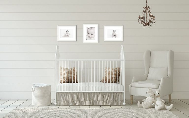 Huntsville baby pictures by Ellen Adams Photography created this wall series for this one year old's nursery.