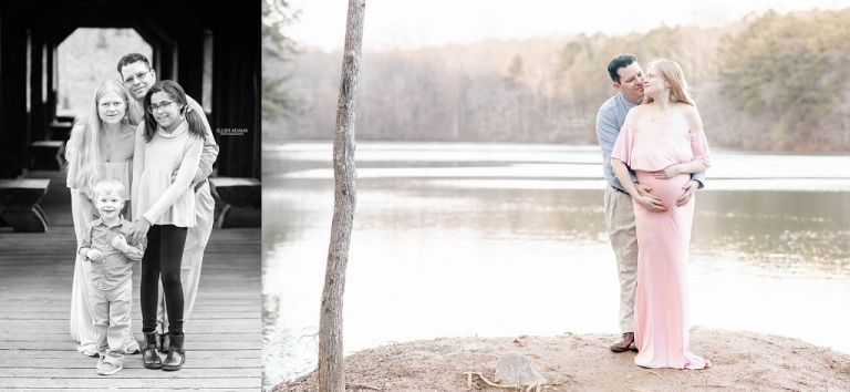 Covered bridge family photography by Ellen Adams Photography.